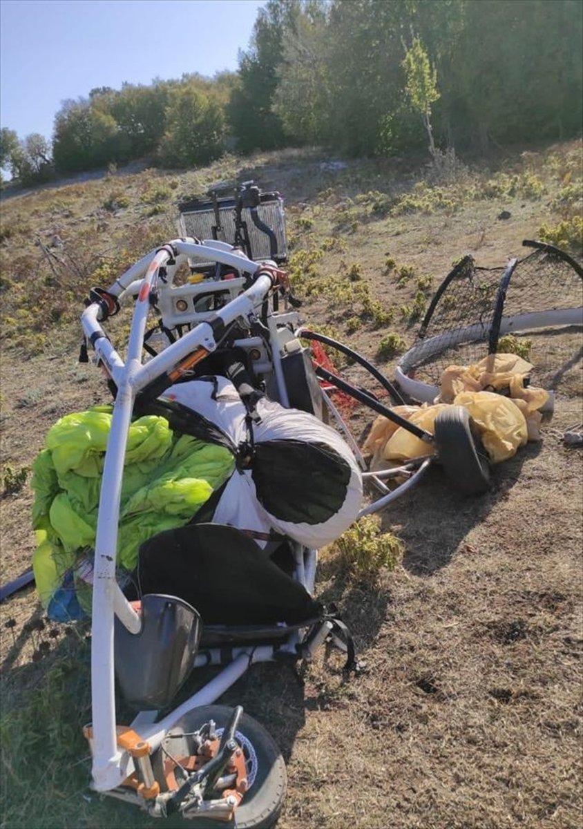 Amanoslar da terör örgütü PKK ya ait paramotor ele geçirildi #2