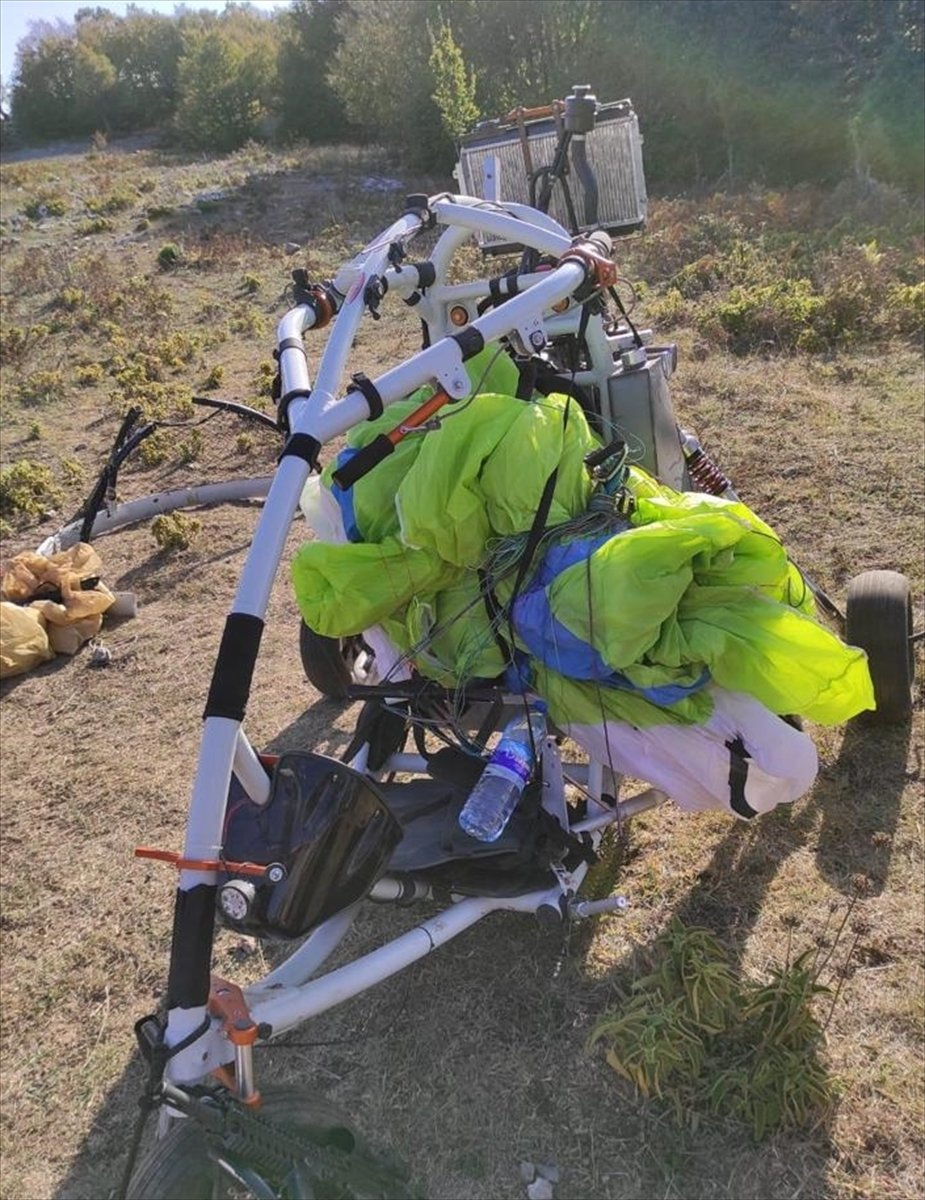 Amanoslar da terör örgütü PKK ya ait paramotor ele geçirildi #3