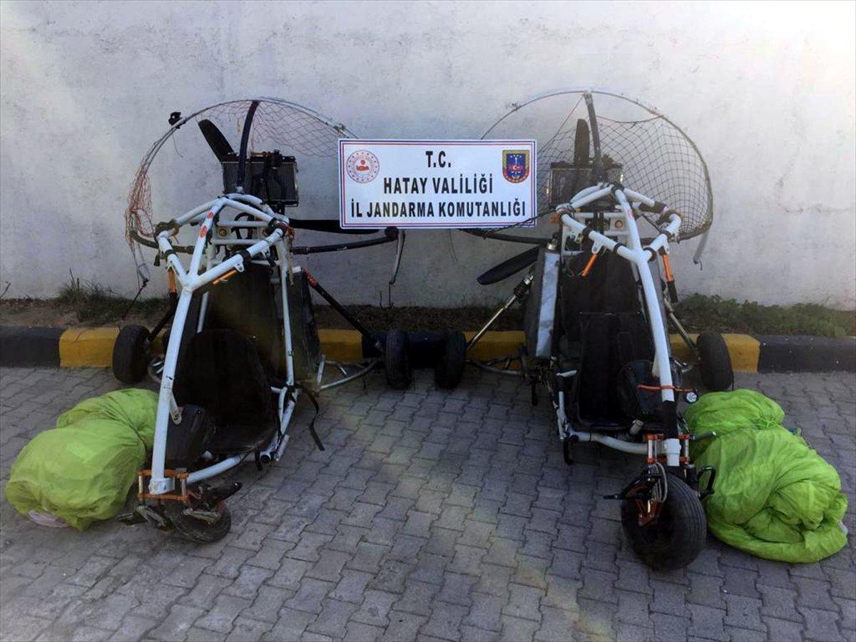 Amanoslar da terör örgütü PKK ya ait paramotor ele geçirildi #1