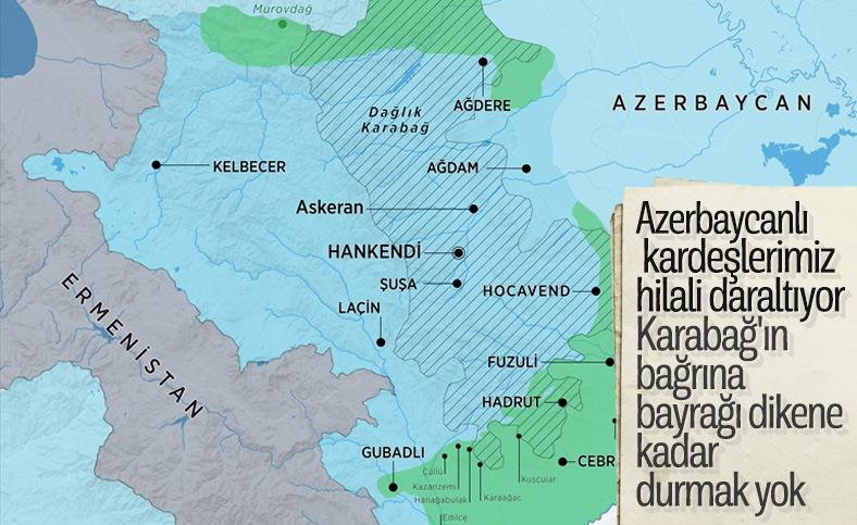 Azerbaycan, Karabağ'ı geri almak için operasyonlara devam ediyor