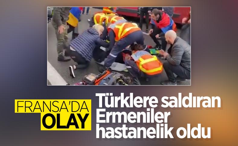 Fransa'da Türklere saldıran Ermeniler hastanelik oldu