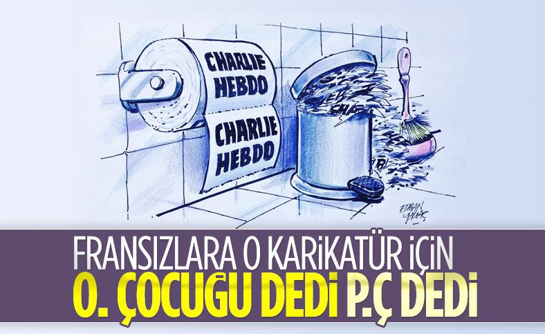 Türkiye'den Charlie Hebdo'nun küstah karikatürüne tepki yağıyor