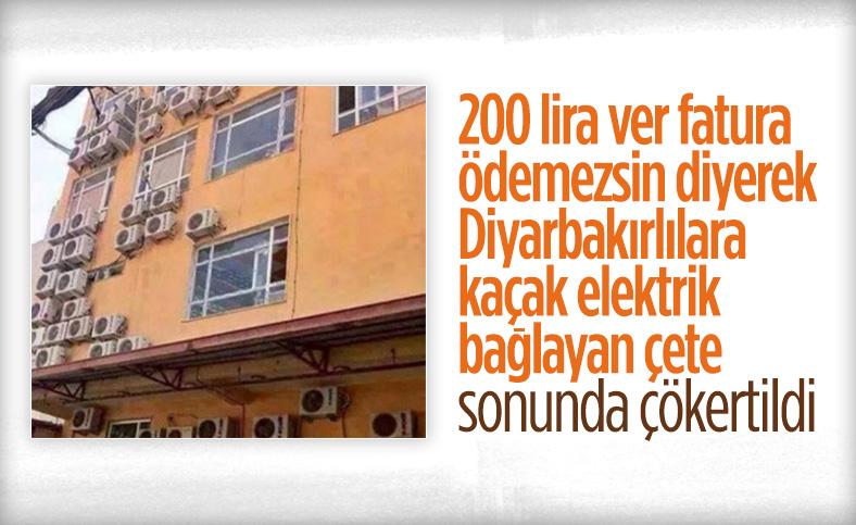Diyarbakır'da kaçak elektrik şebekesine operasyon