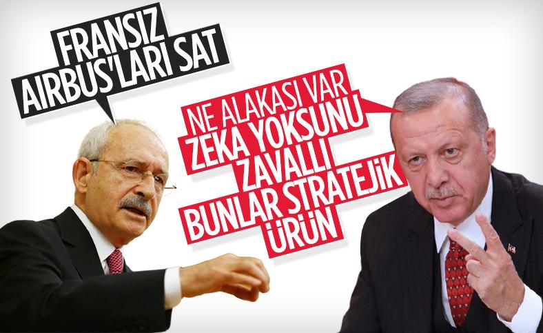 Cumhurbaşkanı Erdoğan'dan Kılıçdaroğlu'na 'Fransız uçaklarını satın' eleştirisi