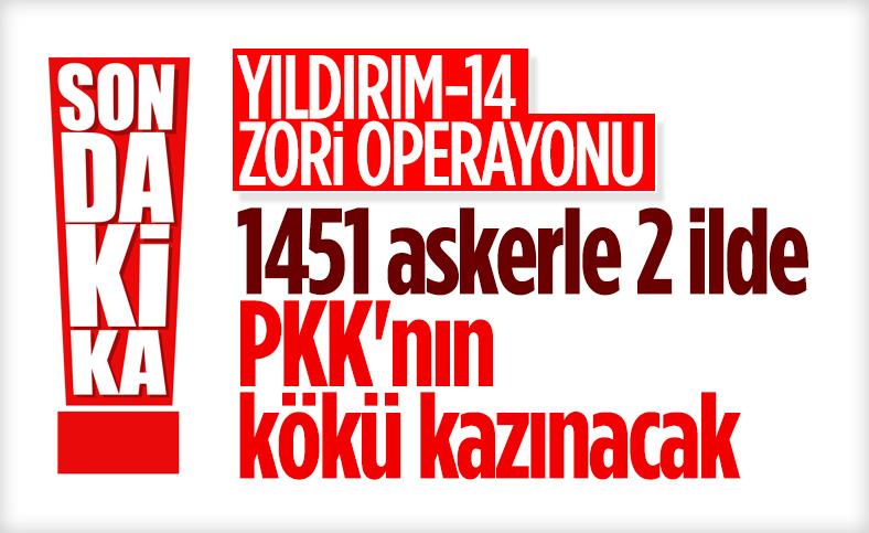 Diyarbakır ve Batman'da 'Yıldırım-14 Zori Operasyonu' başlatıldı