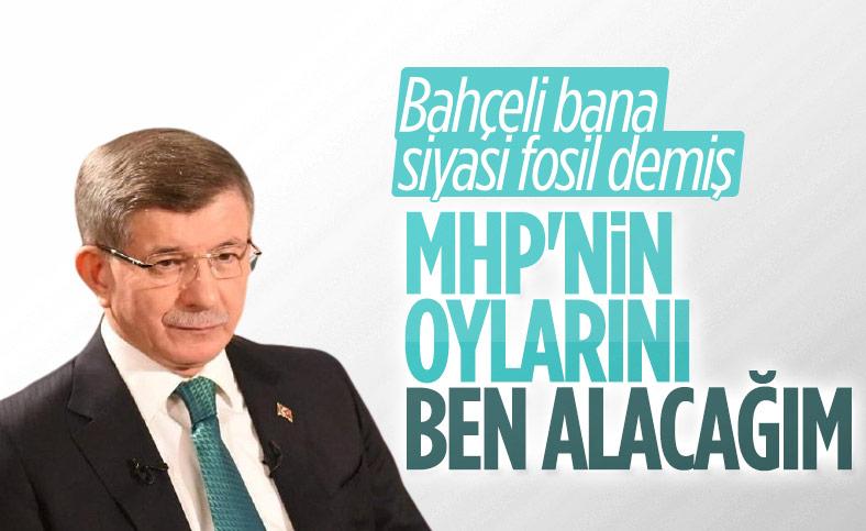Ahmet Davutoğlu: MHP'nin oyları benim olacak