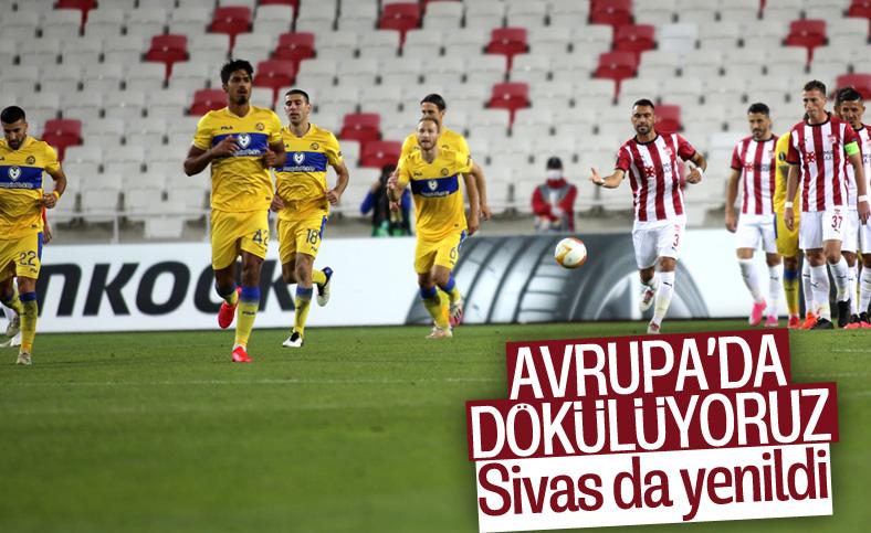 Demir Grup Sivasspor, Maccabi Tel-Aviv'e 2-1 yenildi