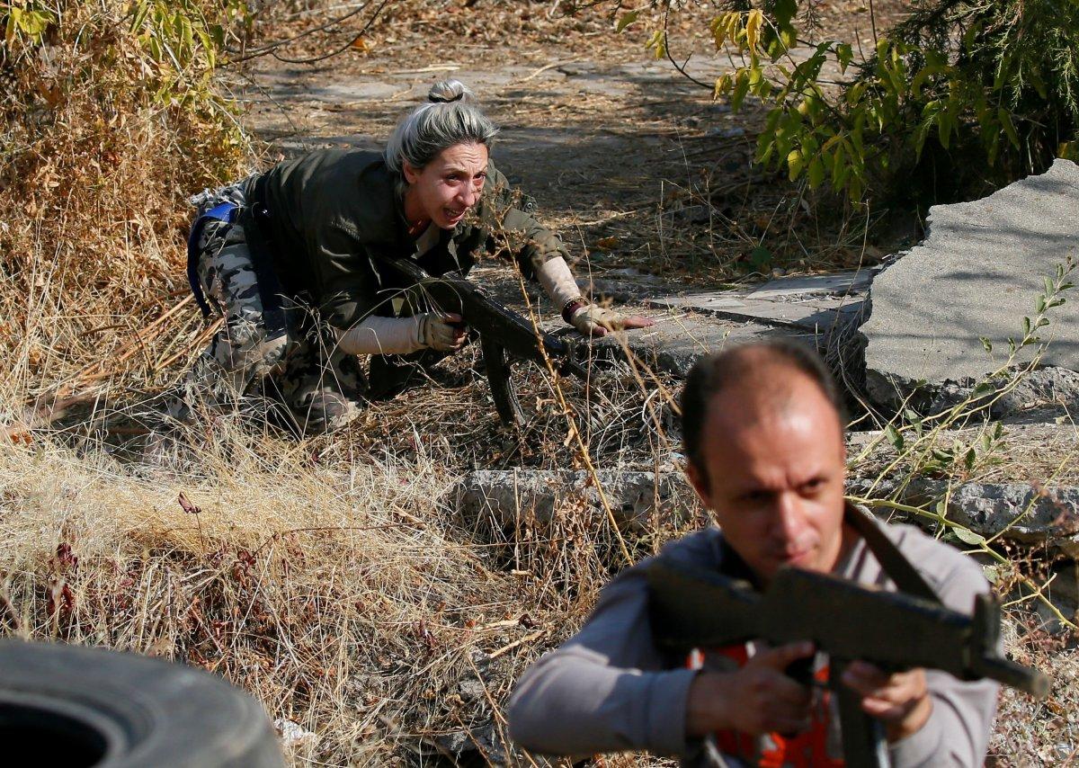 Ermenistan sivilleri cepheye hazırlıyor #3