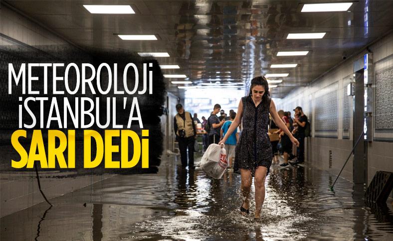Meteoroloji'den sarı kodlu uyarı: İstanbul'da sel ve doluya dikkat