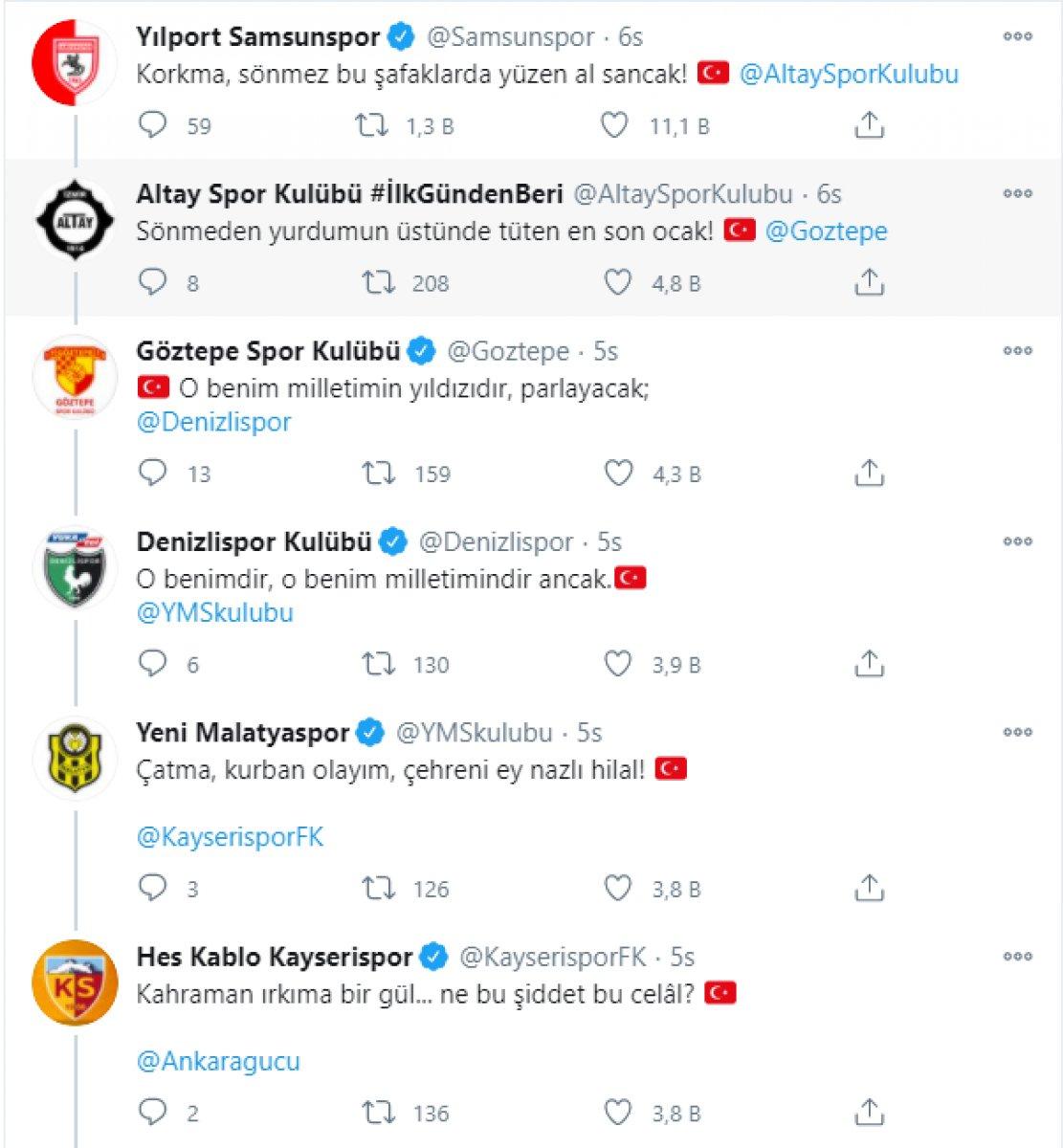 Kulüplerin İstiklal Marşı paylaşımları büyük beğeni topladı #1