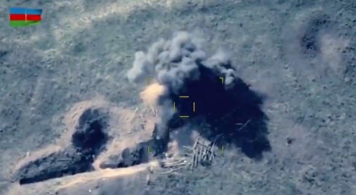 SİHA lar bir kez daha Ermeni mevzilerini yok etti #1