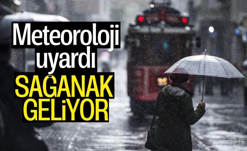 Meteoroloji İstanbul'u sağanak yağış için uyardı