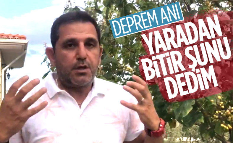 Fatih Portakal İzmir'deki deprem anını anlattı Fatih Portakal İzmir'deki deprem anını anlattı