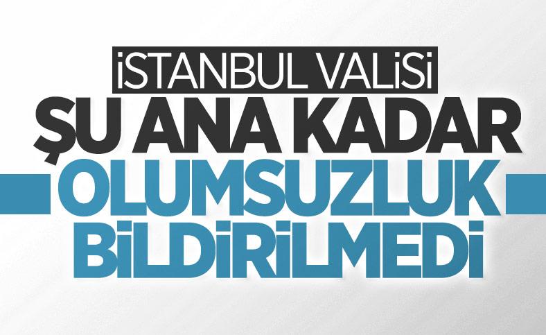 Ali Yerlikaya: İstanbul'da depremle ilgili bir olumsuzluk yok