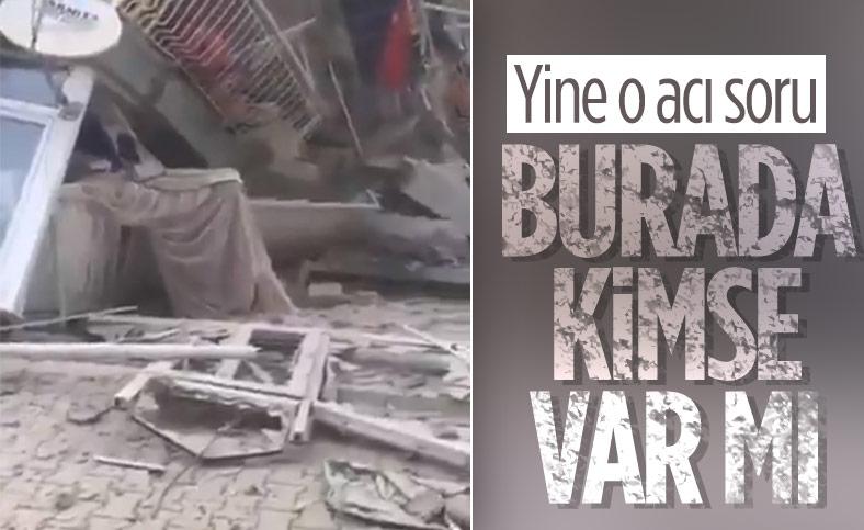 İzmir'de yaşayan depremin en acı sorusu: Burada kimse var mı
