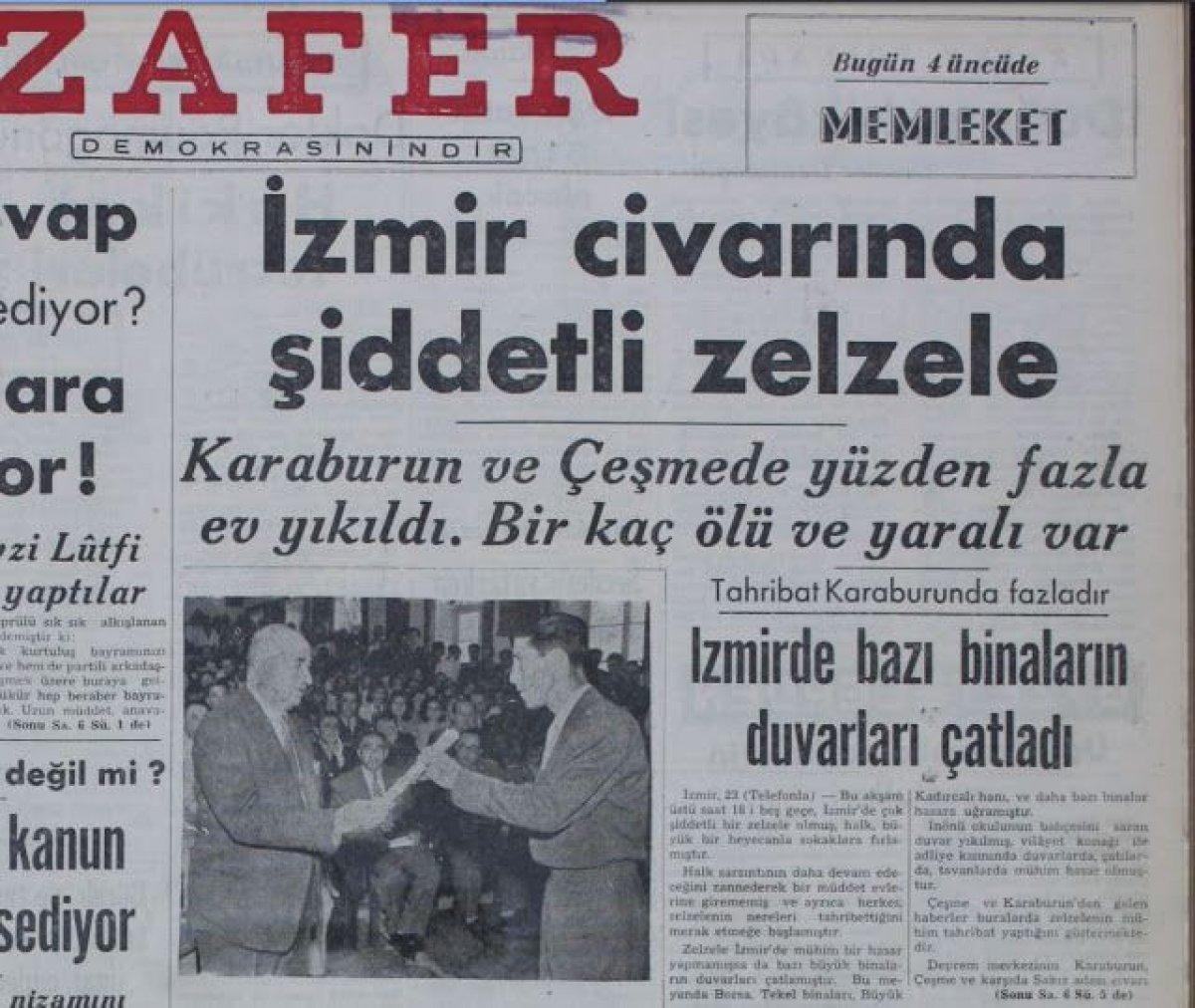 İzmir de 111 yılda, 6 ve üzeri büyüklüğünde 8 deprem meydana geldi #5