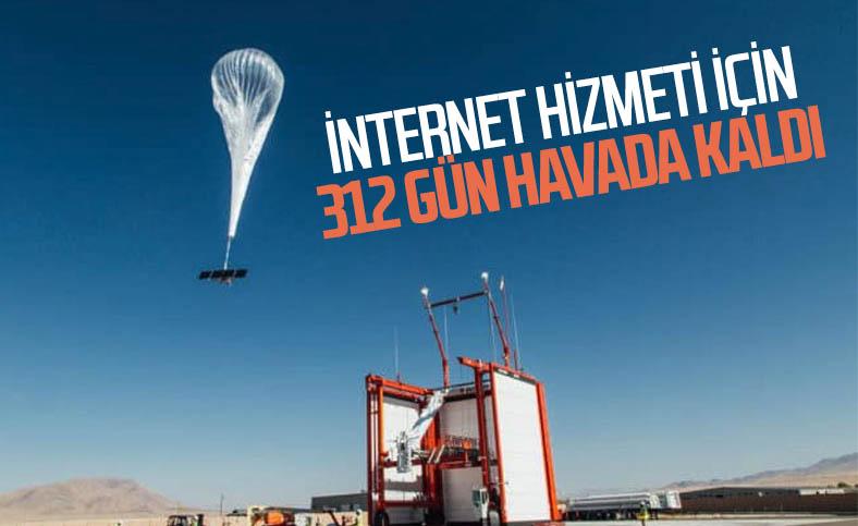Google'ın internet balonu, 312 gün havada kalarak rekor kırdı