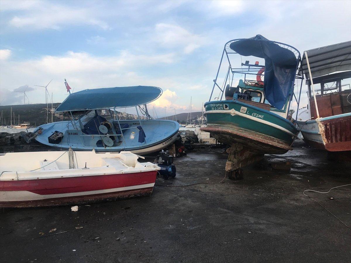 Seferihisar da tekneler zarar gördü  #4
