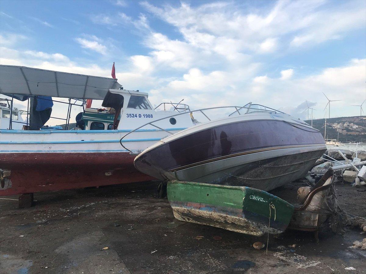 Seferihisar da tekneler zarar gördü  #3