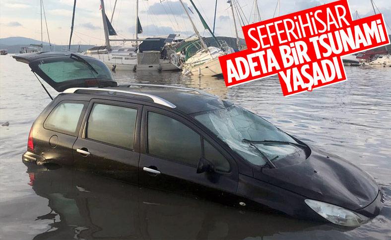 Seferihisar'da tekneler zarar gördü