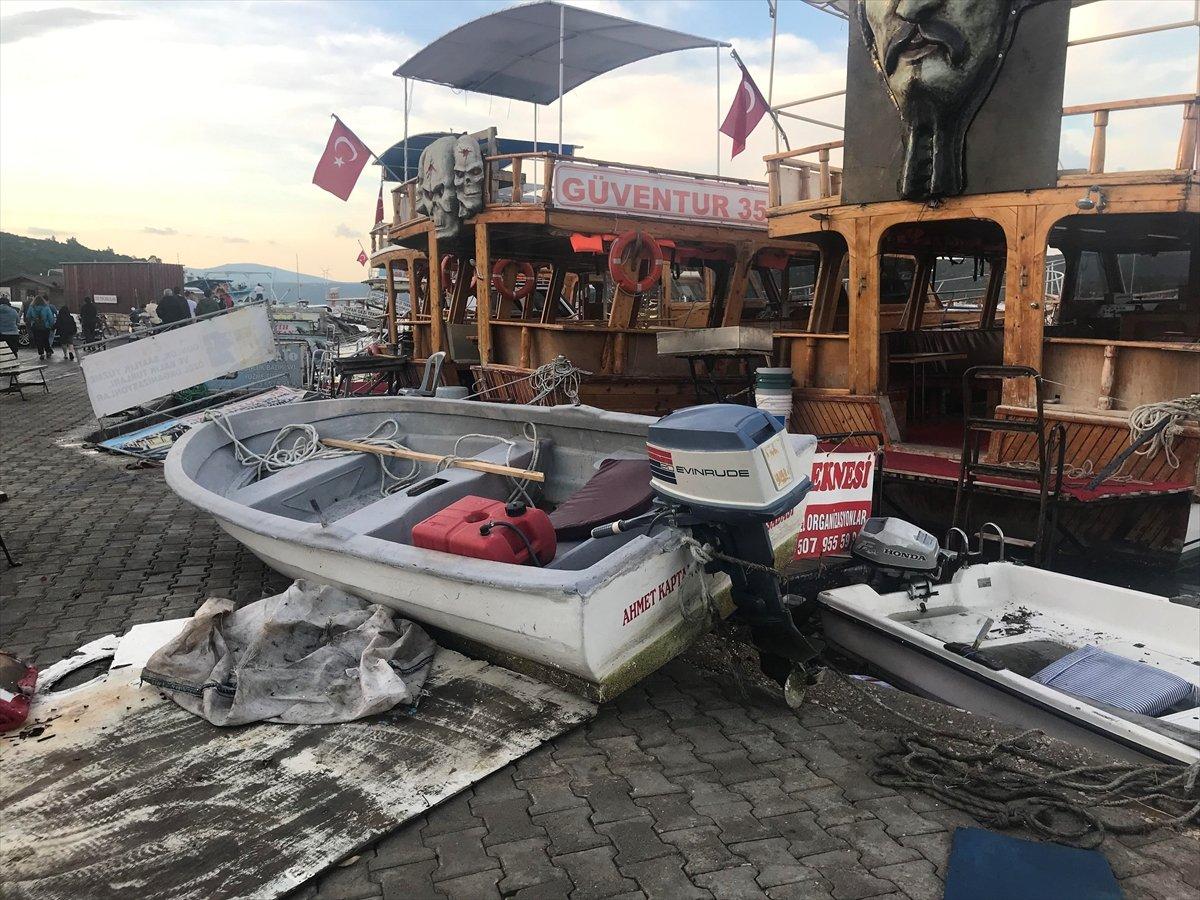 Seferihisar da tekneler zarar gördü  #2