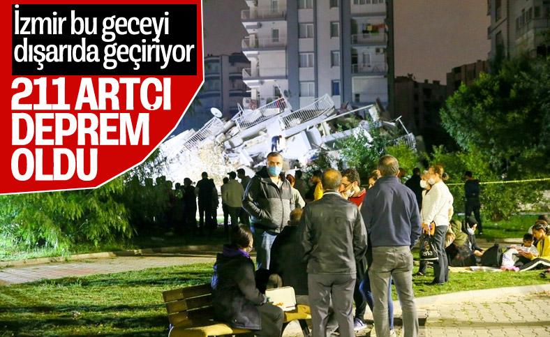 İzmir'de 211 artçı deprem yaşandı
