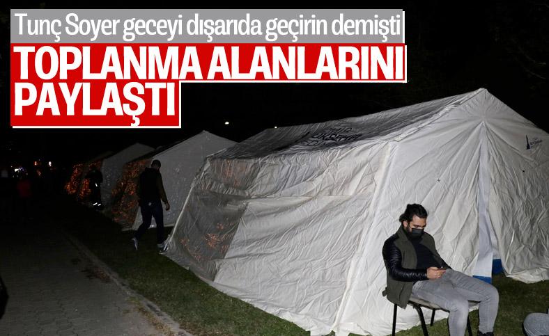 Geceyi dışarıda geçiren İzmirliler için toplanma alanları