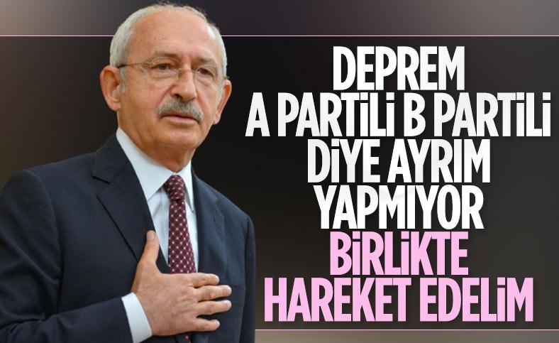 CHP lideri Kemal Kılıçdaroğlu, deprem bölgesinde
