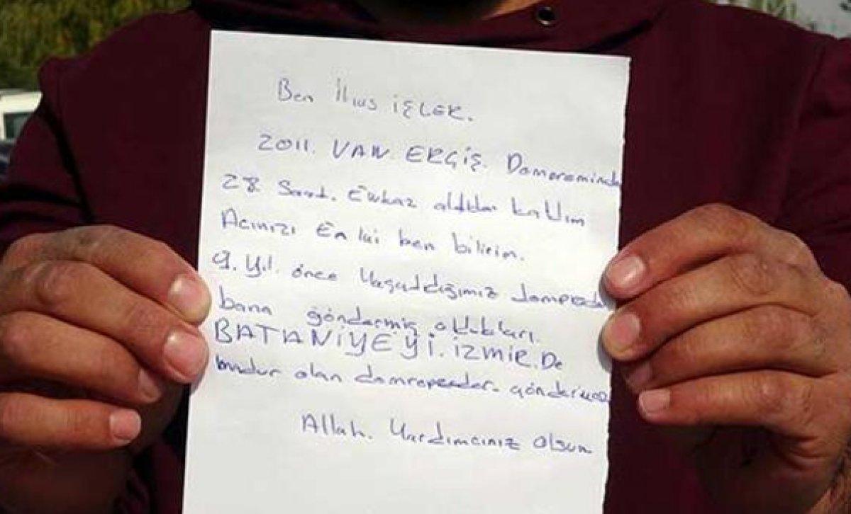 Vanlı depremzede kendisine gönderilen battaniyeyi İzmir e yolladı #2