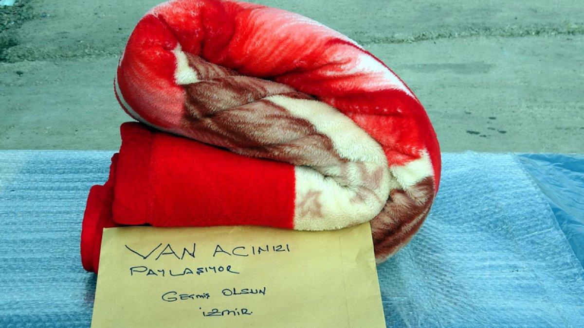Vanlı depremzede kendisine gönderilen battaniyeyi İzmir e yolladı #3