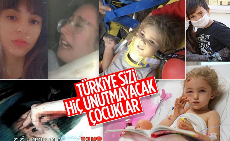 İzmir depreminde enkazdan kurtarılan mucize çocuklar