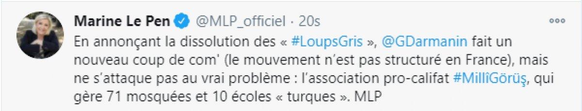 Fransız Le Pen: Milli Görüş faaliyetleri sonlandırılsın #1