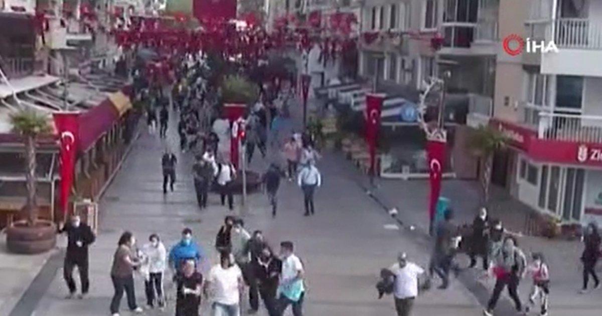 İzmir de deprem anında yaşananlar kamerada #1