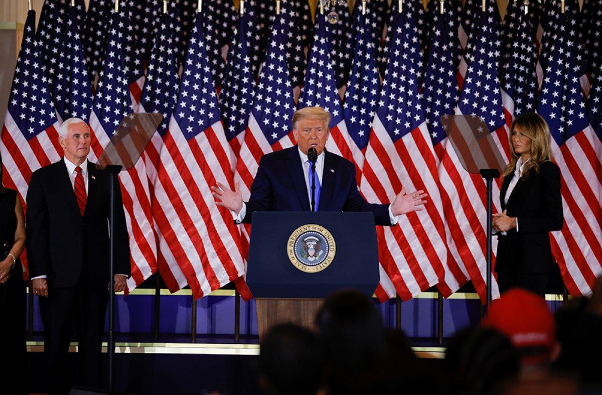 Donald Trump, seçim sonrası Beyaz Saray da açıklama yaptı #2