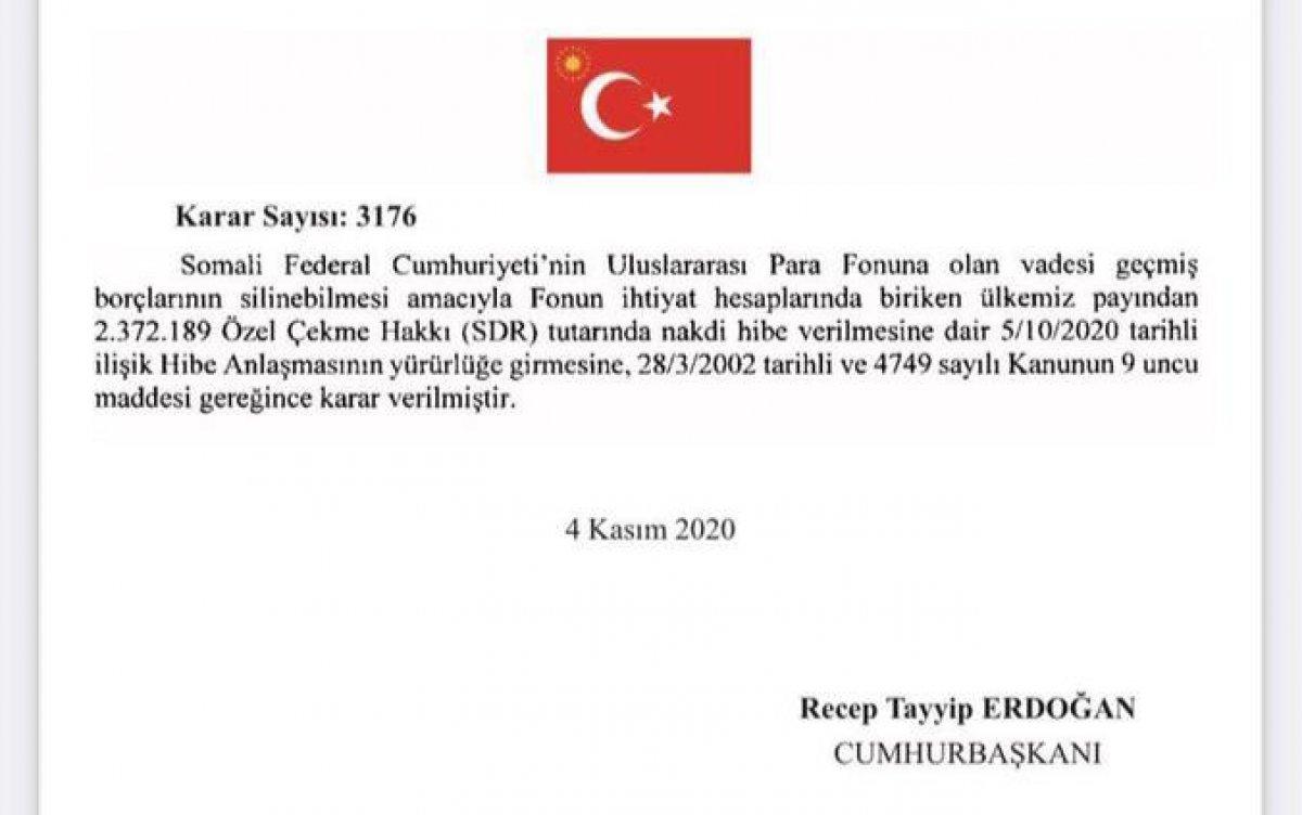 Türkiye, Somali nin IMF ye olan borcunu sildirdi #1