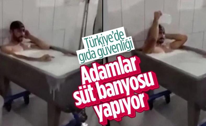 Konya'da süt fabrikasında kazanın içinde banyo yaptı