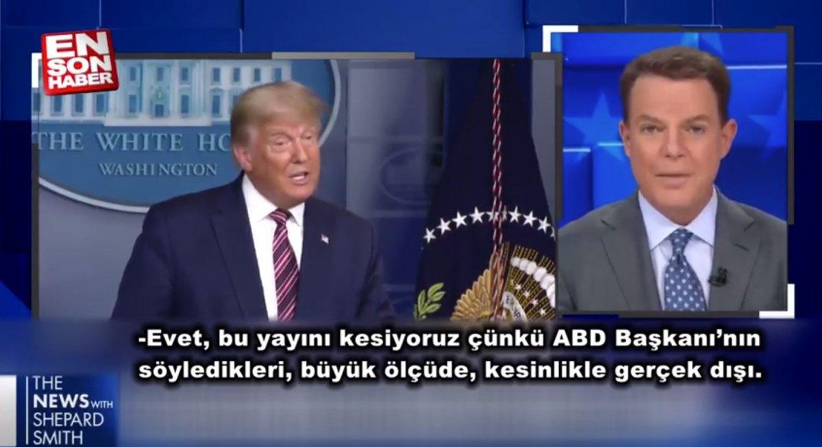 ABD kanalları Trump'ın canlı yayın konuşmasını kesti #1