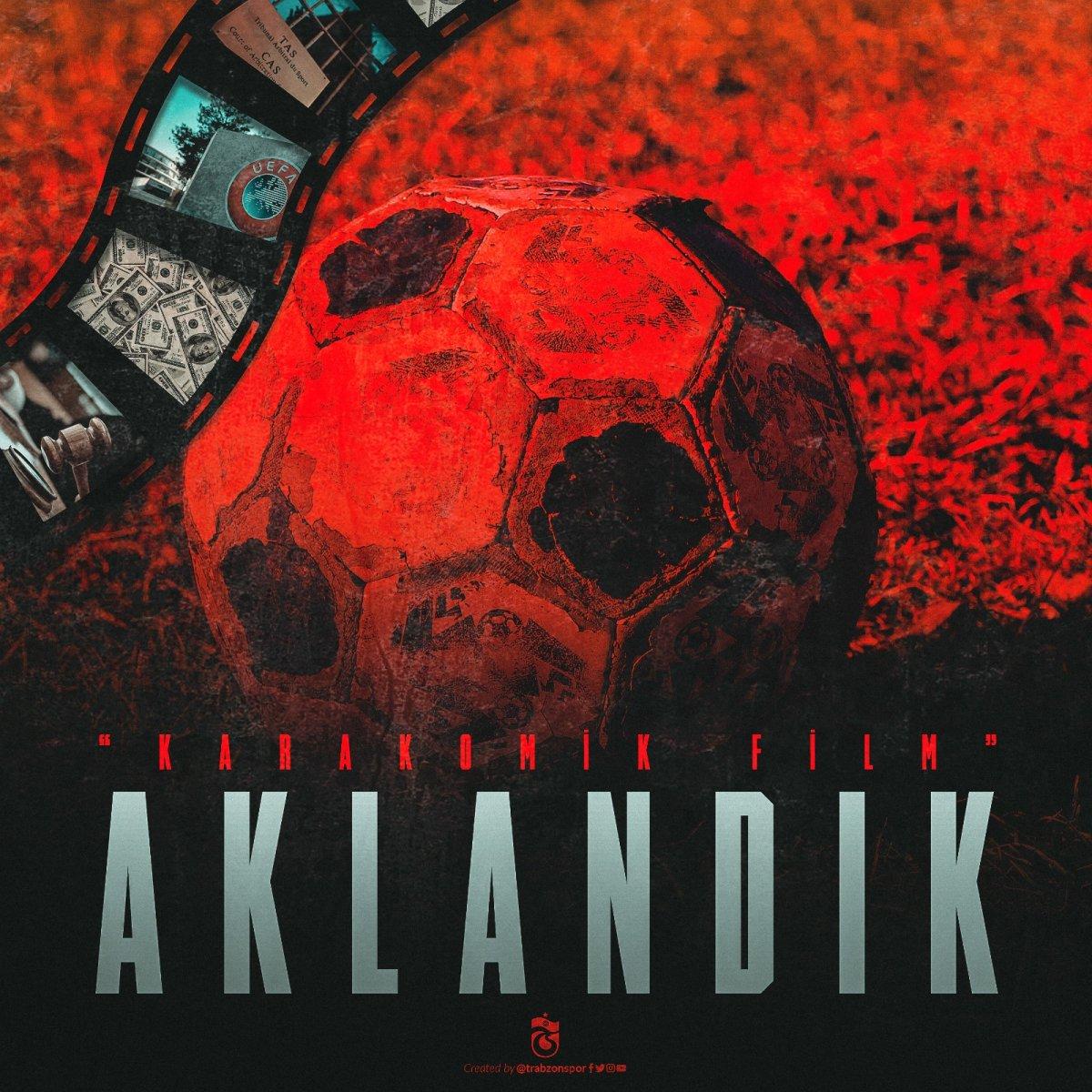 Trabzonspor dan Fenerbahçe ye: Karakomik film: Aklandık #1