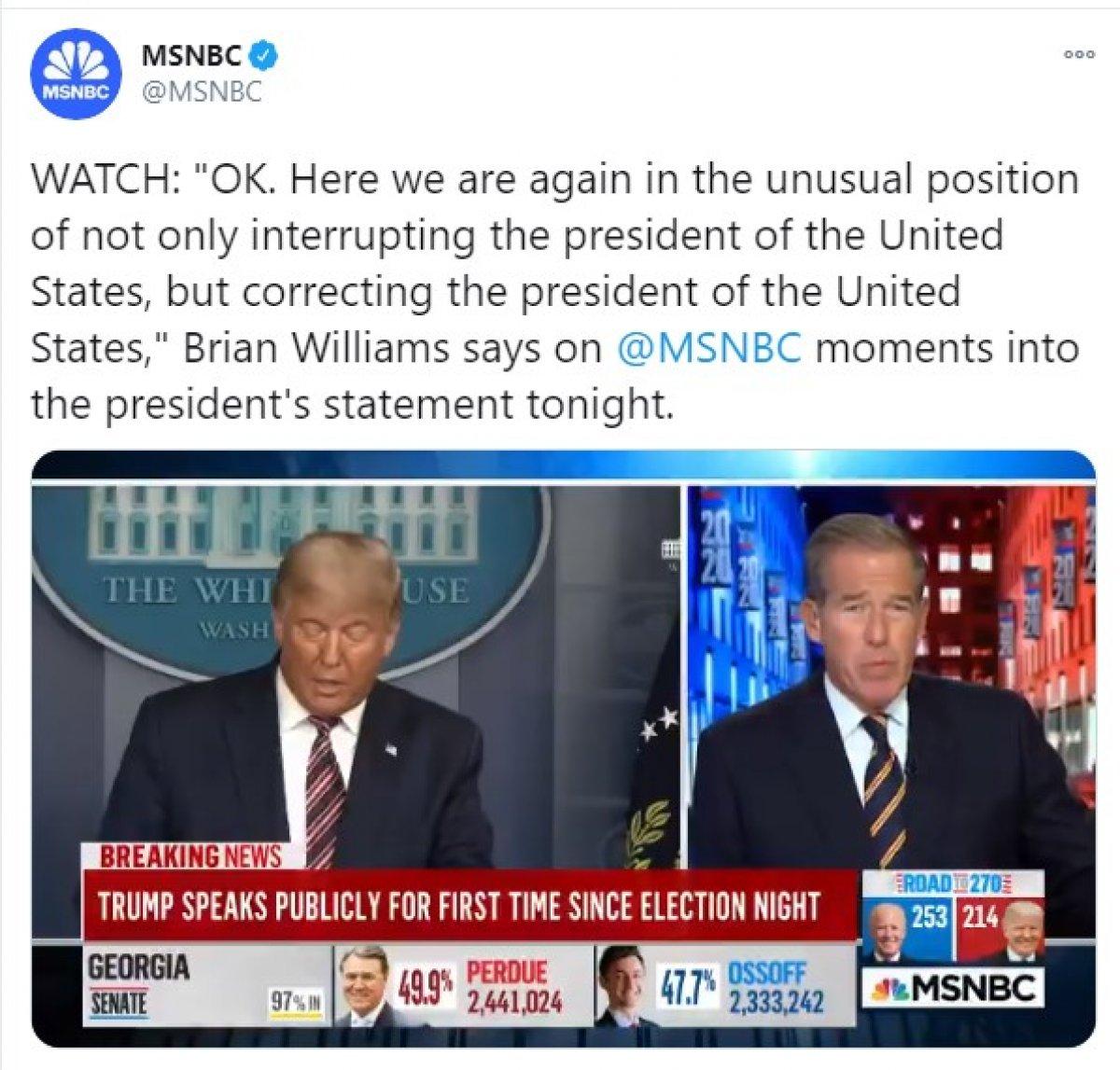 ABD kanalları Trump'ın canlı yayın konuşmasını kesti #2