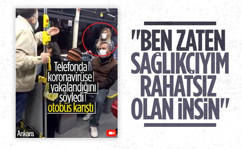 Ankara'da belediye otobüsünde koronavirüslü yolcu paniği