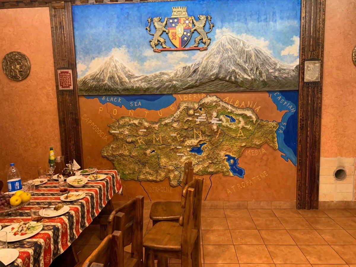 Kiev de, Ermeni lokantasındaki harita dikkat çekti #1