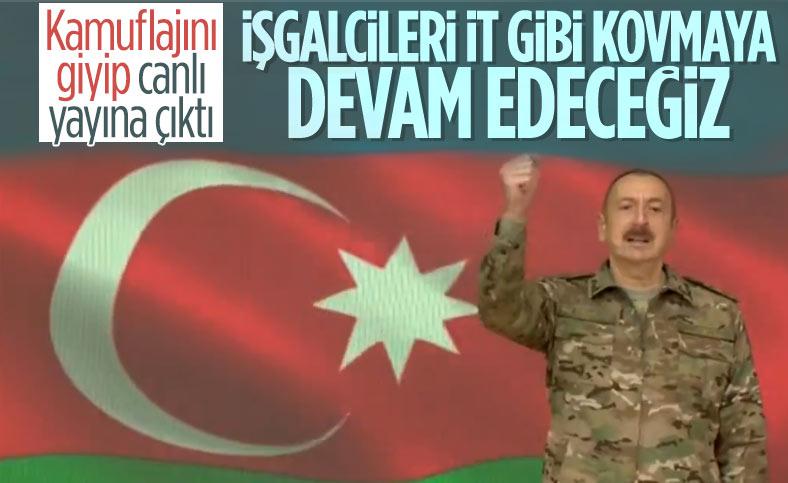 Aliyev: Topraklarımızı kurtarmaya devam edeceğiz