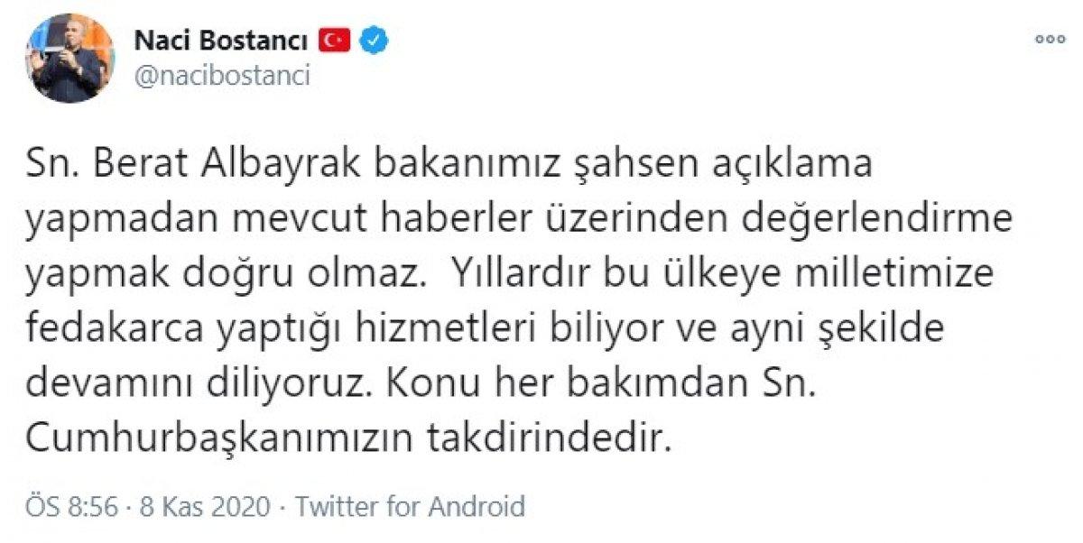 AK Parti den Berat Albayrak açıklaması: Konu Cumhurbaşkanımızın takdirindedir #1