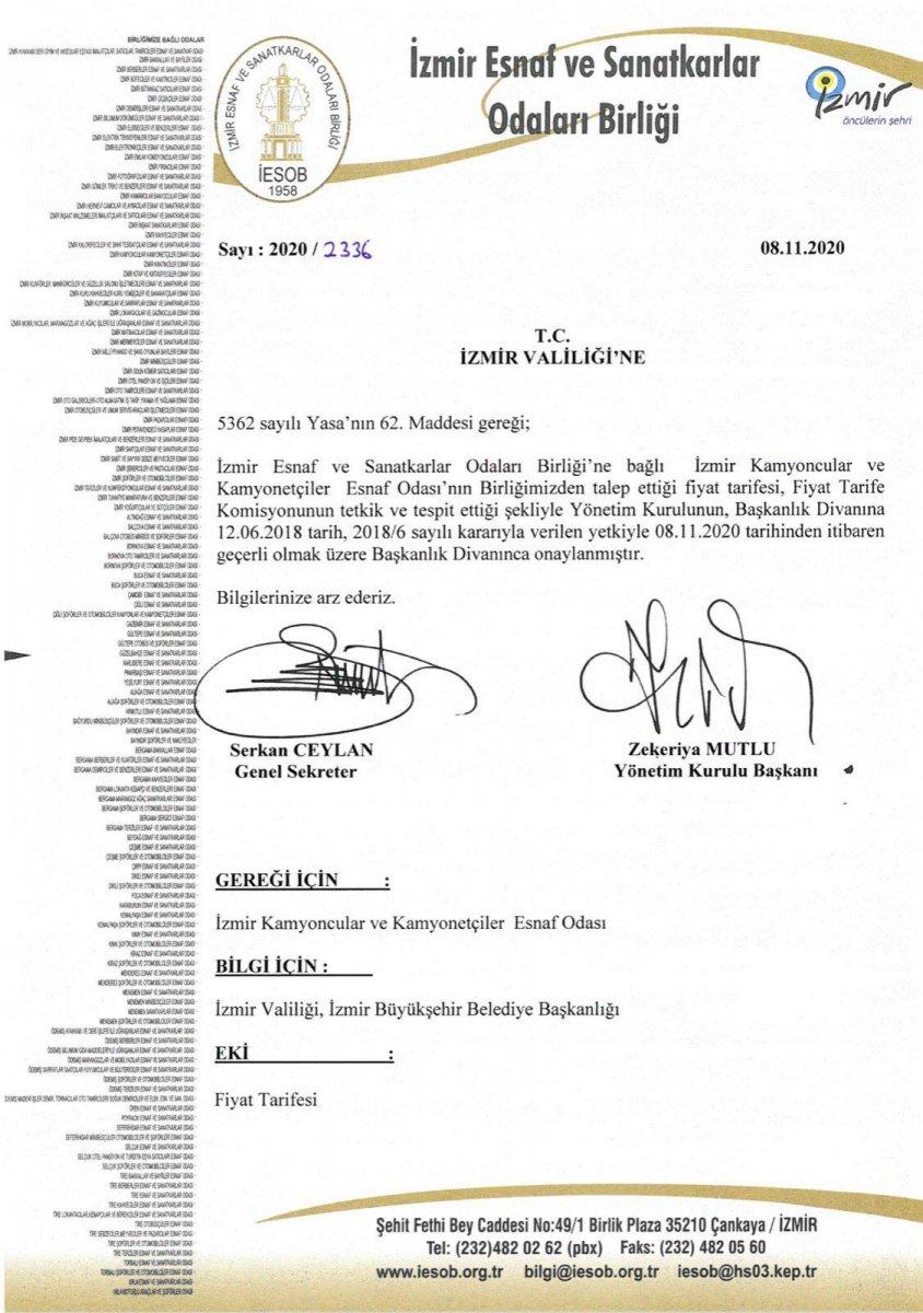 İzmir'de taşınma ücretleri belirlendi: En yüksek fiyat 2 bin lira #3