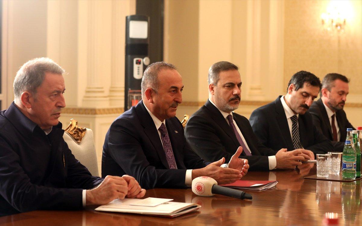 Bakanlar Çavuşoğlu ve Akar dan, İlham Aliyev e tebrik ziyareti #5