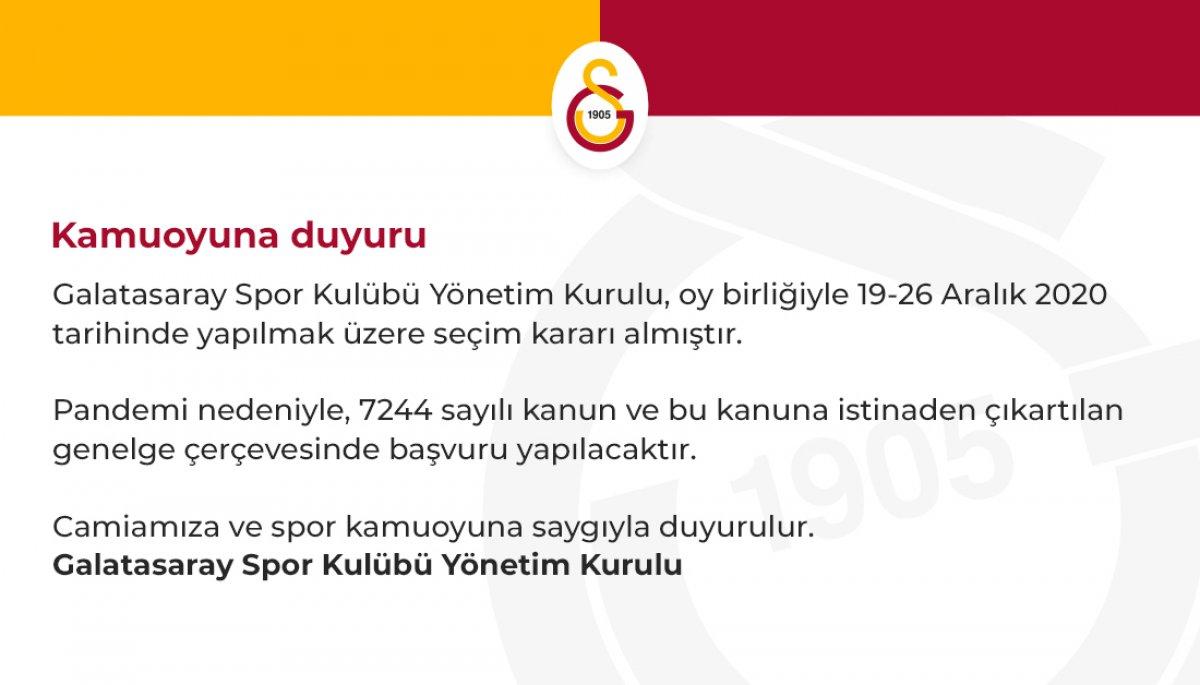 Galatasaray da erken seçim kararı #1