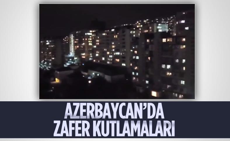 Azerbaycan'ın zaferi Bakü'de coşkuyla kutlandı