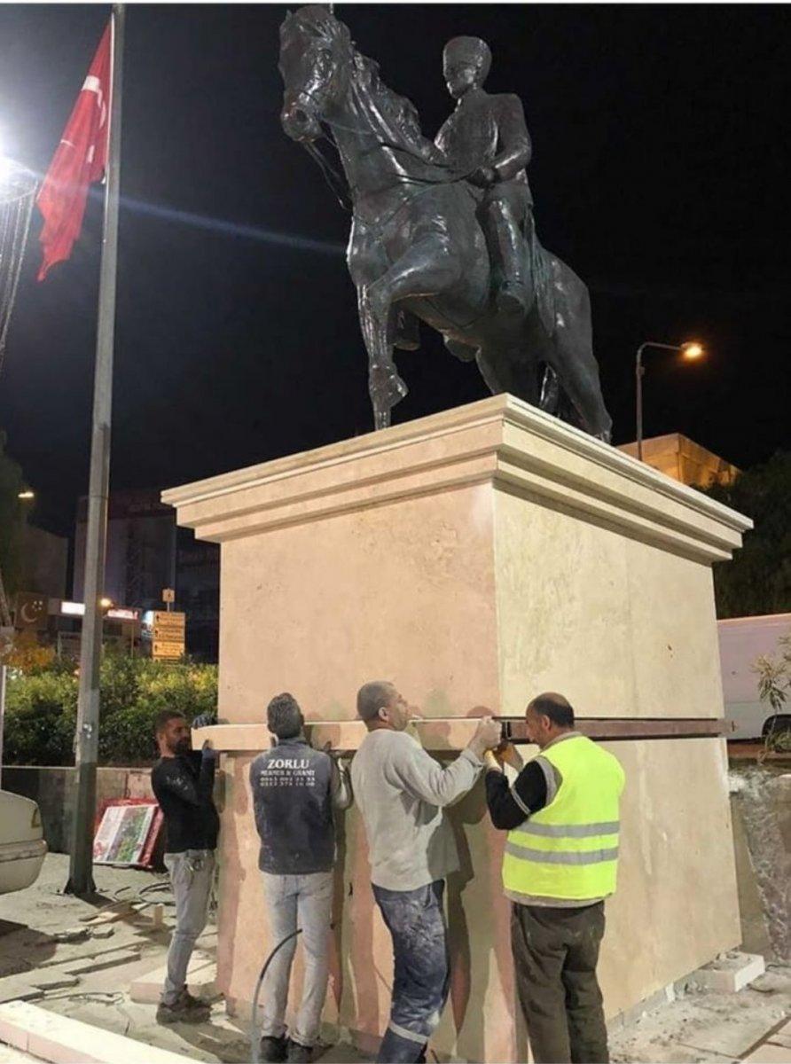 Bornova Belediyesi Atatürk heykelini 10 Kasım a yetiştirdi #2