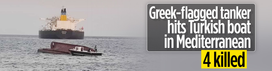 Greek-flagged tanker hits Turkish boat in Mediterranean