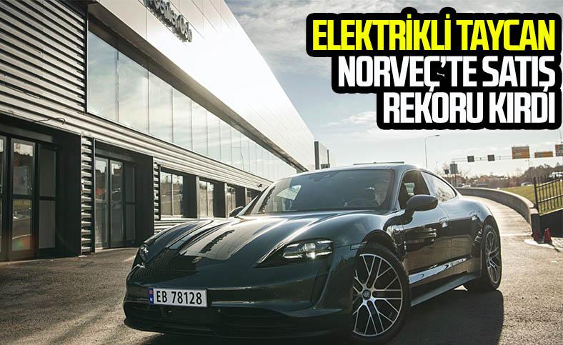 Elektrikli Porsche Taycan, şimdiden Norveç'te bin adet sattı